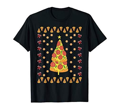 Pizza Lustiges Weihnachts Geschenk Ugly Shirt Witzige Idee T-Shirt