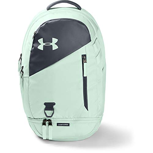 Under Armour Adult Hustle 4.0 Backpack , Seaglass Blue (403)/Metallic Gold Luster , One Size