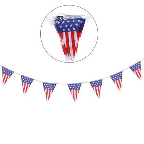 FunPa HäNgende Flaggen Fahne, Dreieck Fahnen Kreative Amerikanische Flaggen Partei Fahne FüR UnabhäNgigkeitstag Dekor