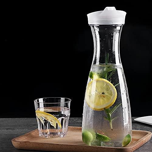PPuujia Jarra resistente al calor de gran capacidad de acrílico para jugo de frutas, para fiestas, vino, cerveza, botella de agua para el hogar, bebidas, jarra (color: 600 ml)