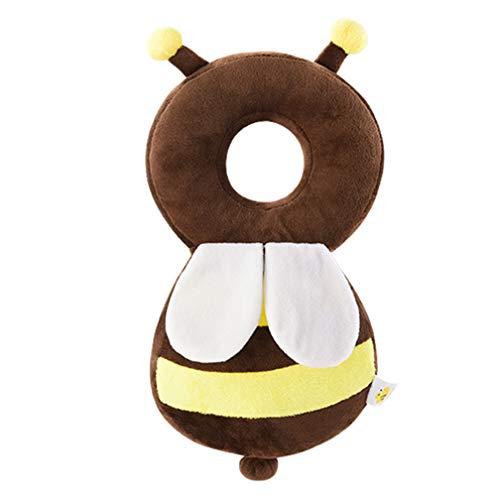 JMAHM Mochila de protección de cabeza de bebé anti-caída reposacabezas bebé mochila Pad unicornio forma abeja