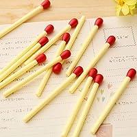 Gaocheng ポータブルペン ミニボールペン 事務用品 マッチスティック形状のペン 書き込み文房具 20本のマッチスティックボールペン プラスチック多機能ペン マッチスティックボールペン matches pen 8.7cm