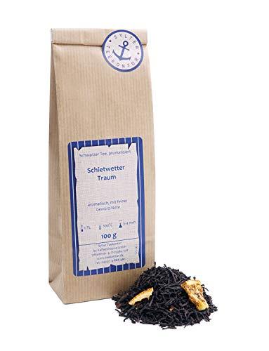 Schwarzer Tee lose Schietwetter Traum Orangenecken, Zimt, Nelken, Vanille Schwarztee aromatisch, mit feiner Gewürz-Note 100g