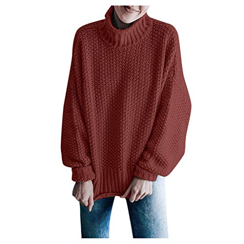 Vrouwen Losse Jumper Warm Coltrui Gebreide Sweater Dames Winter Herfst Plus Size Shirts Meisjes Lange Mouw Sweatshirt Pullover Tops Blouse