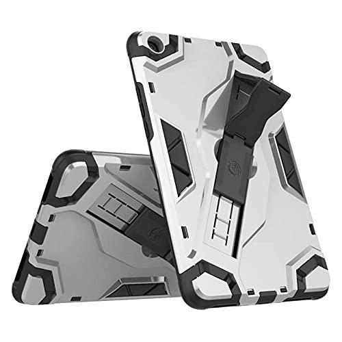GoYi Funda Compatible con Xiaomi Mi Pad 4 (8.0') 2018, Carcasa Caso 360° Antichoque/PC + TPU 2-In-1/Tough Armor/Correa de Mano/Soporte para Xiaomi Mi Pad 4 (8.0') 2018-Plata