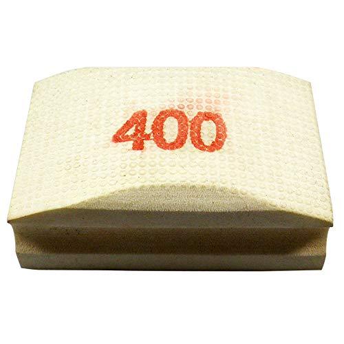 Original EDW Handschleifpad/Schleifschwamm | Körnung 400 | Zum Schleifen, Polieren und Entgraten von Fliesen, Feinsteinzeug, Naturstein, Granit, Kunststein und Glaskanten