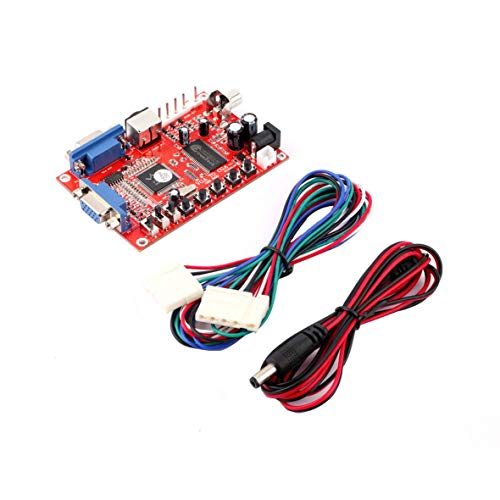 Heaviesk Red VGA zu CGA/CVBS/S-Video High Definition Konverter Arcade Game Video Konverter Board für CRT LCD PDP Monitor