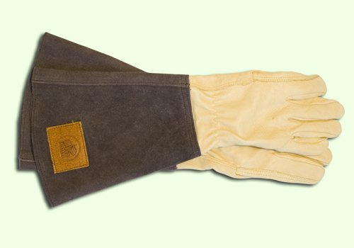 Rosenhandschuhe aus Leder mit Stulpe, 1 Paar für Damen