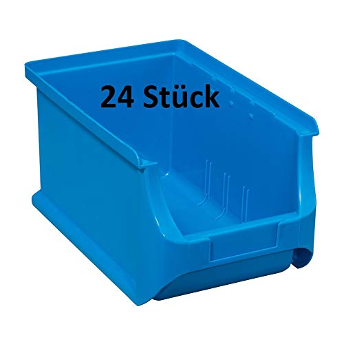 24Stück Allit ProfiPlus Box Stapelbox Sichtbox Gr.3 (blau)