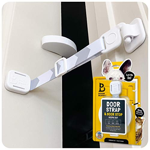 Door Buddy Door Latch Plus Door Stopper. Keep Dog...