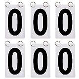 GOGO 6 Ensembles Score Reporter 3 1/8 x 5 1/2 Pouces Tableau à Feuilles Mobiles pour Tableau de Bord 0-9-noir