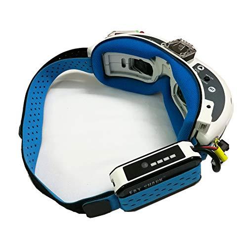 KINGDUO Fatshark FPV Brille Kopf Gurt Mit Faceplate Schwamm Magic Sticking Tape Für FPV Rc Drone-Blau