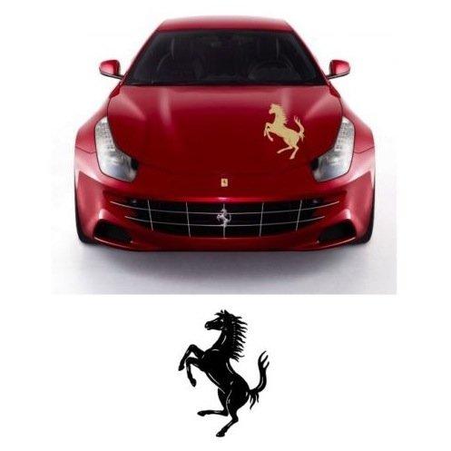 snstyling.com Aufkleber passend für Ferrari Motorhaube Aufkleber Cavallino Rampante Ferrari Pferd 65cm (Gelb)