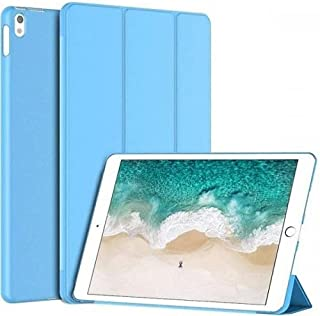 """Smart Case for iPad 5th/6th/iPad Pro 9.7"""" Lightweight Slim Shell Translucent Frosted Back Cover - Sky Blue"""