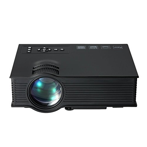 Xindy Projector,2016 Updated 130' HD Color Image Pro Portable Mini LCD Home Cinema Theater Game Video Projector Support 1080P HD Video IP IR USB SD HDMI-Black