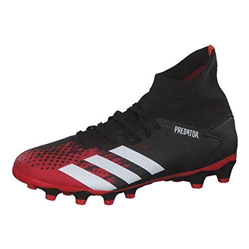 adidas Predator 20.3 MG, Scarpe da Calcio da Uomo, Multicolor (Core Black/Ftwr White/Active Red), 42 2/3 EU