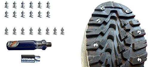 Piscator Fly Kit 20 Clavos de tungsteno para Botas de wadear + Llave magnética