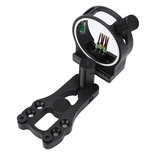 5 Pin Arco Compuesto aleación de Aluminio Tiro con Arco avistamiento de la Vista Caza Caza Accesorios de Tiro LED luz Arco Vista
