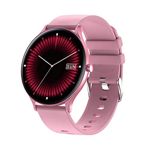 AEF Smartwatch, Fitness Armbanduhr,IP67 Wasserdicht 1.28 Zoll Touch-Farbdisplay Pulsuhr Sportuhr Smart Watch mit Schrittzähler, Schlafmonitor, Männer Frauen,Rosa