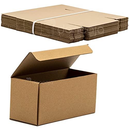 Pack cajas 19,5 x 9 x 8 cm | cartón pequeñas, para envíos ecommerce automontables...