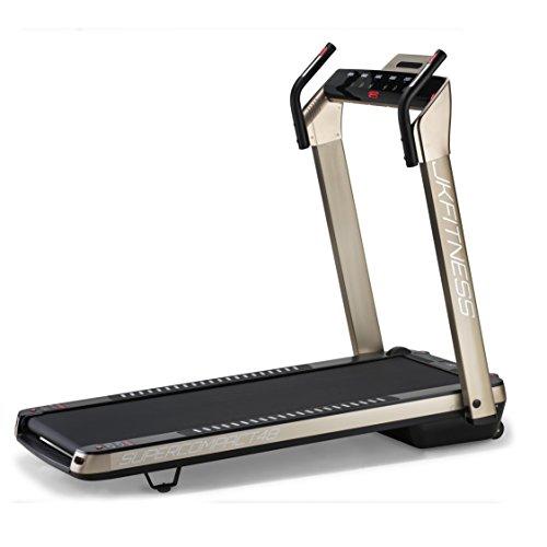 JK Fitness SUPERCOMPACT48, Tapis roulant, Unisex - Adulto, Oro, 145 x 75 x 123 cm Aperto - 74 x 26 x 145 cm Chiuso