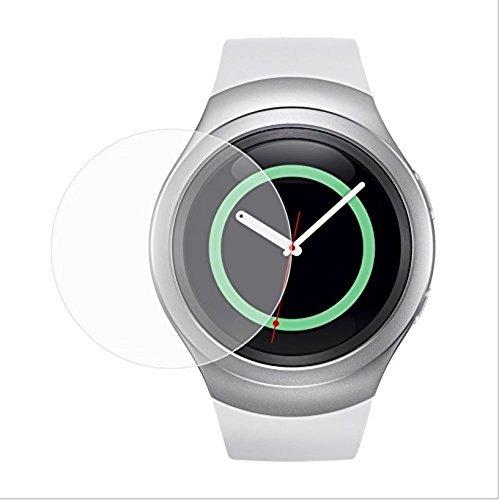 Funnytech_ - Cristal templado para Samsung Gear S2. Protector de pantalla transparente para Samsung Gear S2. Vidrio templado antigolpes (Grosor 0,3mm) – Kit de instalación incluido