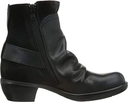 FLY London Mel P141633, Damen Biker Boots, Schwarz (BLACK 003), 37 EU (4 UK)