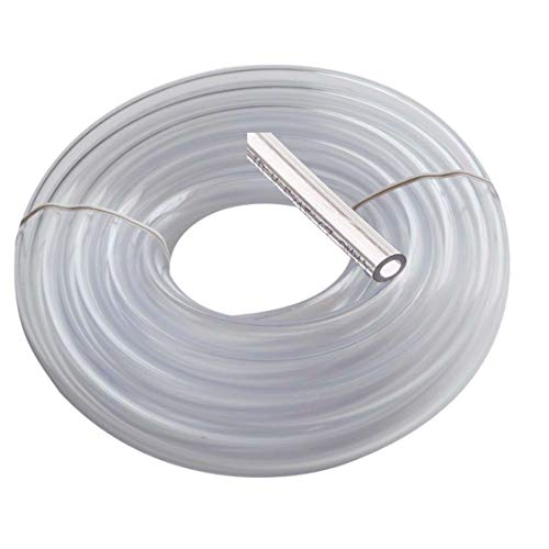Utah Pneumatic Vinyl Tubing 3/8' Id 1/2' Od 25 Feet Brewing Hose Food Grade Tubing Beer Draft Line Clear Tubbing Wine and Beer Making Bpa Free Tube Water Fountain Tubing Beverage Line