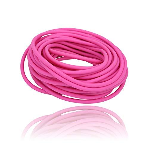 DAUERHAFT Tubo per Fionda Elastico Rotondo Rosa da 10 m ad Alta resilienza, Lunga Durata, Speciale per la Competizione, Accessorio da Caccia