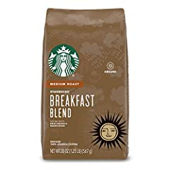 Breakfast Blend is a lively and lighter roast with a crisp finish Medium-roasted coffees are balanced with smooth and rich flavors Enjoy the Starbucks coffee you love without leaving the house For finest taste, always use clean, filtered water; clean...