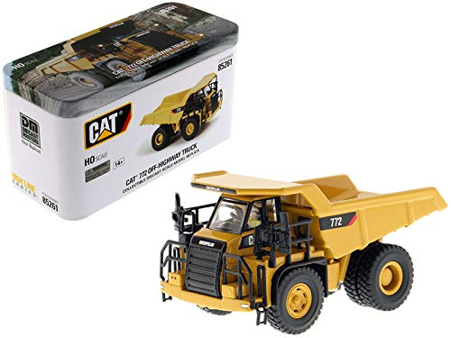 CAT Caterpillar 772 Off-Highway Dump Truck with Operator High Line Series 1/87 (HO) Scale Diecast Model by Diecast Masters 85261