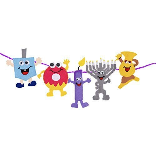 Hanukkah Banner Create Your Own Craft with Hanukkah Bunting Characters