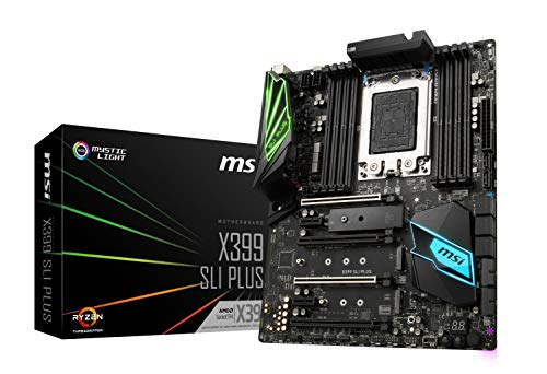 MSI X399 SLI Plus Gaming AMD Ryzen ThreadRipper DDR4 VR Ready HDMI USB 3 SLI Crossfire ATX Motherboard