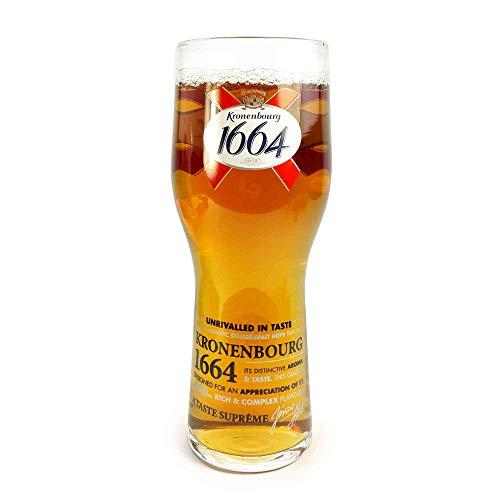 Tuff-Luv Ursprüngliche Pint Bier-Glas / Gläser / Barbedarf CE 20 Unzen / 568ml für Kronenbourg 1664