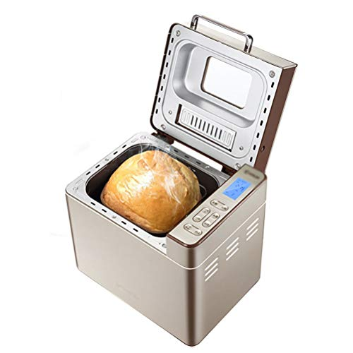 Panificadora, máquina de pan inteligente para el hogar, máquina automática para hacer pasteles, 25 menús, 60 minutos, conservación del calor para el desayuno, sándwich, tostadora