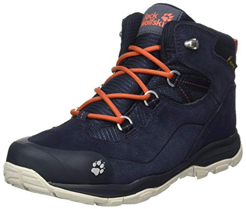Jack Wolfskin Unisex Kinder MTN Attack 3 LT Texapore MID K Outdoorschuhe, Dark Blue/orange, 39 EU