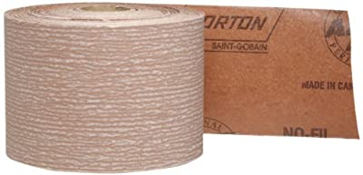 "Norton A275 No-Fil Adalox Abrasive Roll, Paper Backing, Pressure Sensitive Adhesive, Aluminum Oxide, Waterproof, Roll 2-3/4"" Width x 45yd Length, Grit 600 (Pack of 1)"