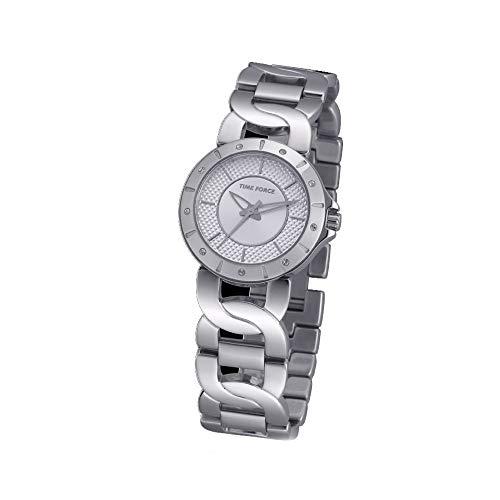 Time Force Orologio Analogico Quarzo Donna con Cinturino in Acciaio Inox...
