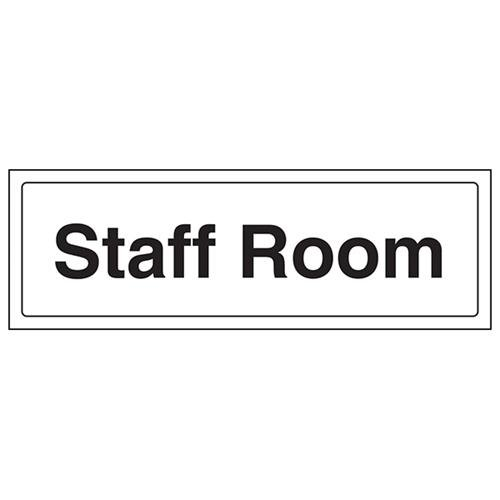 VSafety Staff Room Door Sign - L...