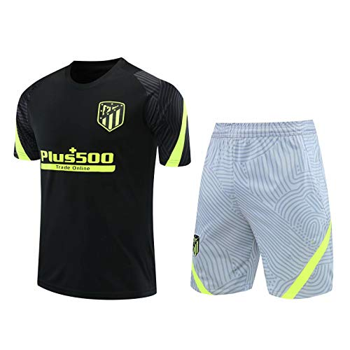 Qinmo 20-21short Manga Camiseta Casual Uniforme de Entrenamiento, Fans para Hombres Atletico Soccer Club Football Jersey, los Mejores Regalos para Marido o Hijo (Size : S)