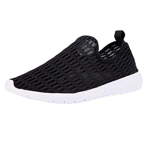 Lucky Mall Damen Volltonfarbe Mesh Sneakers, Sommer Leichte Turnschuhe Atmungsaktive Laufschuhe Weiche Freizeitschuhe Lässige Sportschuhe