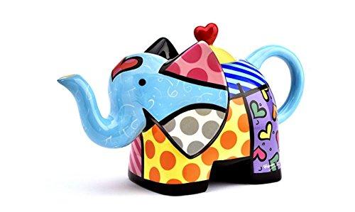 Romero Britto Teekanne - Elefant - Large, Pop Art Miami #334494