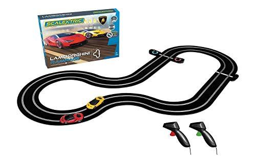 Scalextric Lamborghini Rampage Centenarios 1:32 Slot Car Race Track Set C1386T