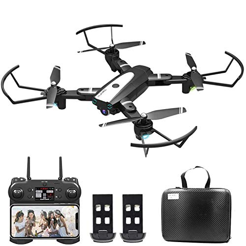 0BEST Dron con Cámara 4K HD, Avión WiFi FPV, Modo sin Cabeza, Foto Gestual, Regreso con un Solo Botón, 360 Flip, 30 Minutos de Tiempo de Vuelo (2 Baterías), Cuadricóptero Plegable para Principiantes
