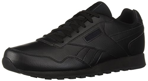 Reebok Men's Classic Leather Harman Run Casual Sneakers, Black/Black, 12.5 M US