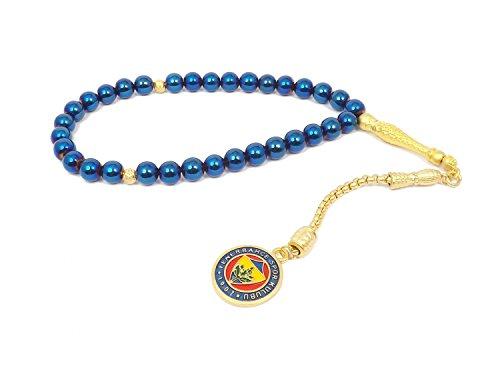 Remi Bijou Gebetskette - Tesbih 33 Perlen Fenerbahce FB für Fußballfans Blau Gold Farben