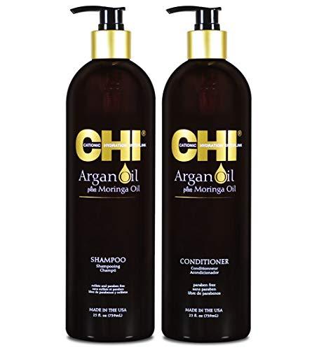 Chi Argan Oil Plus Moringa Oil Shampoo & Conditioner Duo 25oz