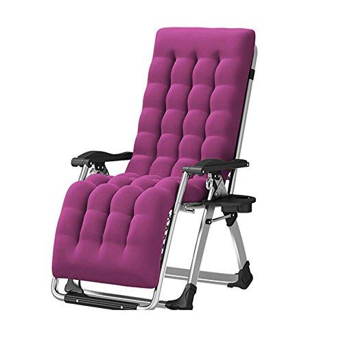 Chaises pliantes Xiaolin inclinable Chaise de Pause déjeuner Chaise de Balcon Chaise de maternité Chaise de Camping en Plein air (Couleur : Gray)