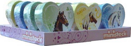 Ministeck 31414 - Herzpackung Pferde, sortiert, 1 Stück