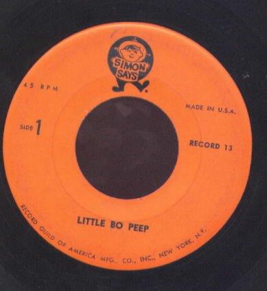 Little Bo Peep / Sleep Baby Sleep / Bye Baby Bunting - Simon Says